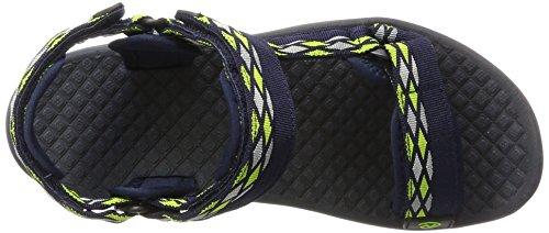 Northland Professional Unisex-Erwachsene Trekking Sandals Wandersandalen Blau (Navy/Lime)