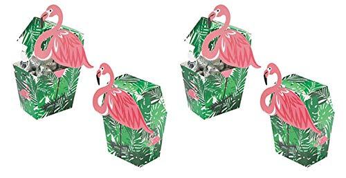 12 Flamingo Treat Party Favor Boxes