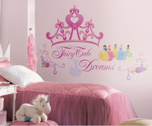 Disney Princess CROWN wall stickers MURAL 18 decals 17x22 inches room decor from Deck Those Walls