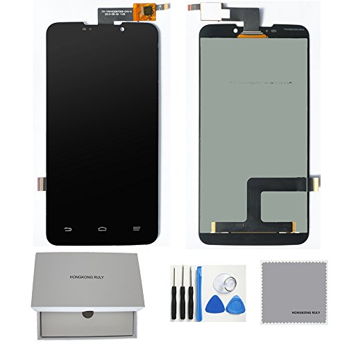 Full LCD Display Touch Screen Digitizer Screen Assembly Replacement Part for ZTE Boost MAX N9520 (black) (Lcd Screen For Boost Max)