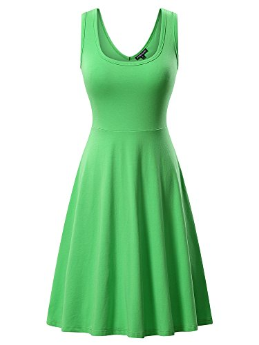 FENSACE Lime Green Dress Women's Petite Everyday Dress