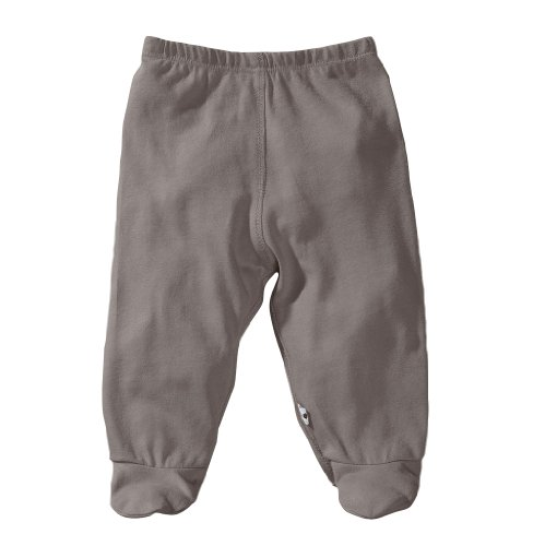 Babysoy Unisex Baby Footie Pants, Thunder, 3-6 ()