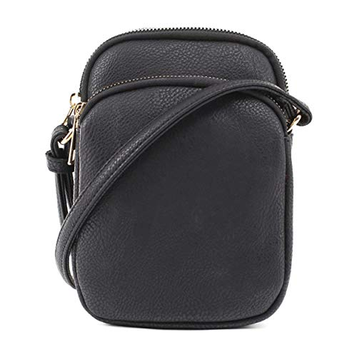 MALILILI-Womens-Josie-Stylish-Lightweight-Triple-Compartment-Cellphone-Crossbody-Bag-With-Tassel