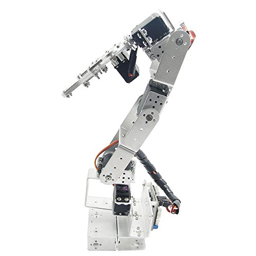 Aideepen Rot3u 6Dof Aluminium Robot Arm Silver Mechanical Robotic Clamp Claw For Arduino