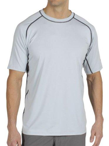 ExOfficio Men's Sol Cool Short-Sleeve Tee,Oyster,Medium