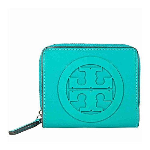 Tory Burch Charlie Mini Bi-Fold Wallet - Ribbon - Turquoise Burch Tory