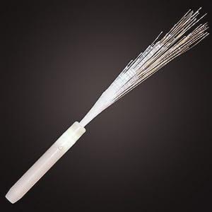White light up fiber optic stick wand set of for Light up wand