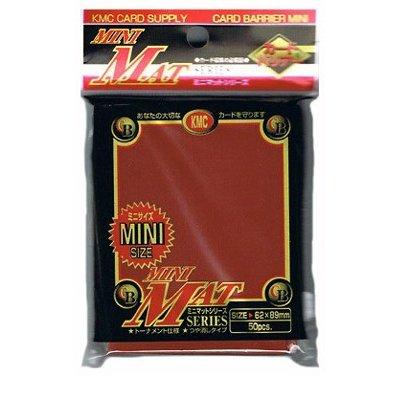 KMC - KMC 50 pochettes Card Barrier Mat Series Rouge