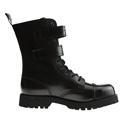 Boots & Braces Stiefel 10-Loch 2 Schnallen Rangers Schwarz 44