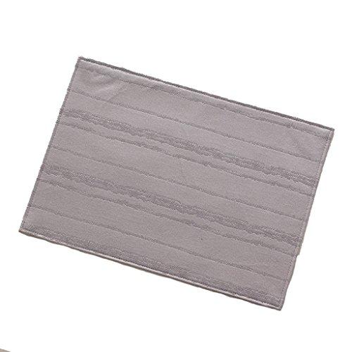 (LOFAMI Place Mats 1 Pcs Washable Fabric Rectangular Placemat Western Table Mat Coaster Insulation Pad Kitchen Bowl Dish Thick Mat (Color : B))