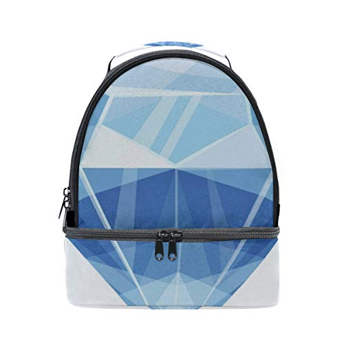 Bright Shimmering Diamond Jewelry Rich Portable School Shoulder Tote Lunch Bag Handbag Kids Double Lunch Box Reusable Insulated Cooler For Women Student Travel Outdoor ()