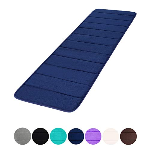 Buganda Memory Foam Soft Bath Mats - Non Slip Absorbent Bathroom Rugs Rubber Back Runner Mat for Kitchen Bathroom Floors 16