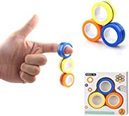 ZHIGAY Upgraded Fingertip Spinner, Magnetic Rings Fidget Finger Toy Relief Anxiety Anti-Stress Magnetic Bracel