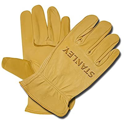 Stanley S90102 Premium Grain Deerskin Driver Glove, Medium