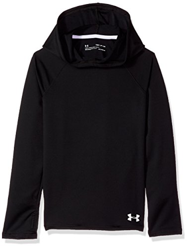 - Under Armour Girls ColdGear Armour Hoodie, Black (001)/White, Youth Small