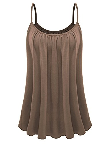 (7th Element Womens Plus Size Cami Basic Camisole Tank Top (Khaki,3XL))