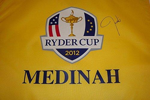 Justin Timberlake Signed 2012 Ryder Cup Golf Flag Medinah USA Woods Mcilroy - Sports Memorabilia