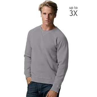 Hanes Adult Nano Sweats Pullover Hoodie Sweatshirt N270 2XL, Charcoal Heather