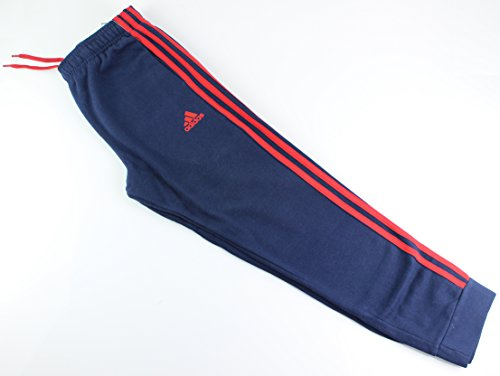 Outerstuff adidas Youth Fleece Collection (Youth Xlarge 18/20, Fleece Tapered Hem Sweatpants, Navy/Red) by Outerstuff