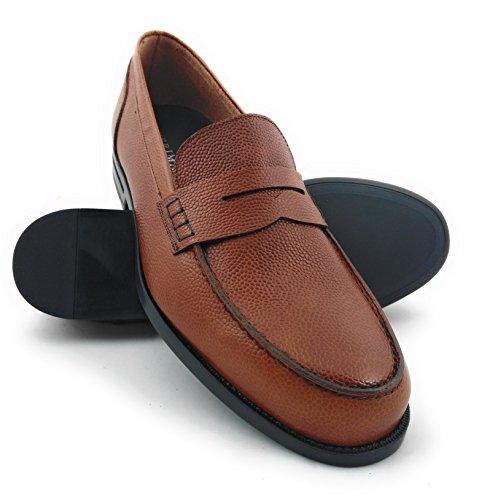 Zerimar Herren Lederschuh Schuh mit Flexibler Gummisohle Leder Casual Schuh  Täglicher Gebrauch Schöne Leder Sportlich Schuh 7bf5fc7d02