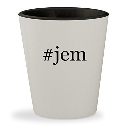 Jem'hadar Costume (#jem - Hashtag White Outer & Black Inner Ceramic 1.5oz Shot Glass)