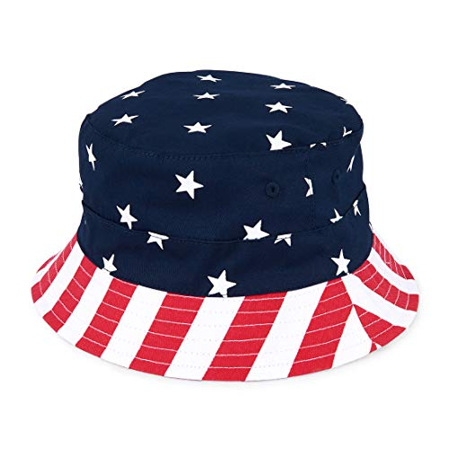 (The Children's Place Baby Boys American Flag Hat, Tidal, M/L (3-5T) )