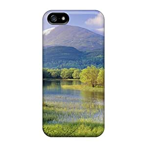 Xmx2733BcbY Anti-scratch Case Cover TLDickey Protective River Trees Case For Iphone 5/5s