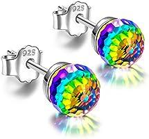 Alex Perry Schmuck für Sie, Glaring Love 925 Sterling Silber Herz Ohrringe Elegant und Charmant, Geschenkbox Verpackung,...
