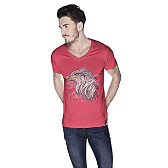 Creo Eagle Animal T-Shirt For Men - Xl, Pink