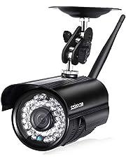 Szsinocam IP Cámara Exterior Seguridad Vigilancia WiFi P2P 720P ONVIF CCTV, Detección de Movimiento, IR-Cut Vision Nocturna, Compatible con iOS, Android, Negro
