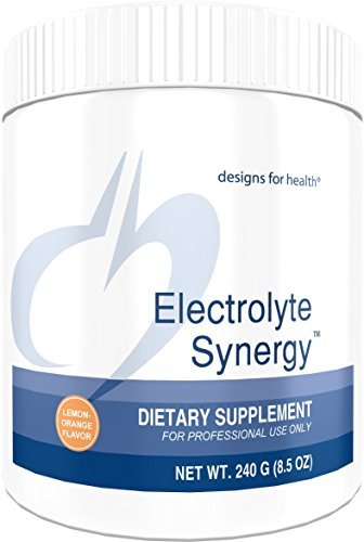 Designs for Health Electrolyte Synergy Powder in Natural Lemon-Orange Flavor – Sugar Free Hydration Support with Vitamin C D-Ribose 240g, 30 Servings