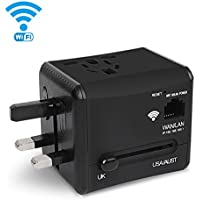 Travel Adapter, Toki WIFI International Plug Adapter with Dual 5V 2.4A Dual USB Charger, Universal Power Converter Plug Wall Charger for UK, US, AU, Europe & Asia
