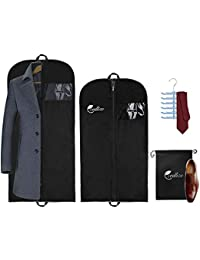 ba3ce00431 Garment Bags For Travel and Storage - Pack of 4 with Shoe-Bag and Tie