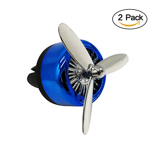 AllEASY Car Fragrance Diffuser Aromatherapy Essential Oil Diffuser Car Diffuser Vent Clip Remove Smoke and Bad Odors (Blue, 2-Pack) - 5 Different Fragrance