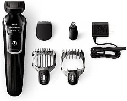 Philips Norelco Multigroom 3100 with 5 attachments and skin-friendly blades, QG3330/49