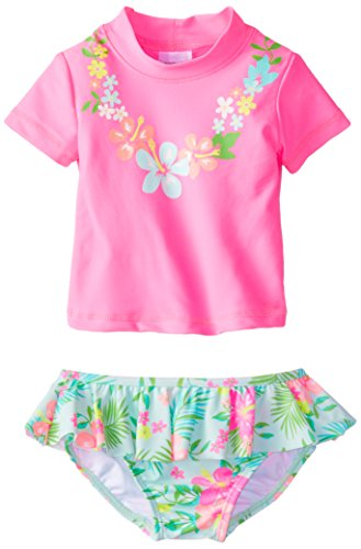 Carter 39 s baby girls 39 lei rash guard set pink 18 months for Baby rash guard shirt