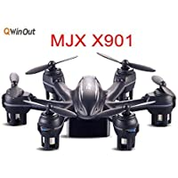 MJX X901 2.4G Mini RC Drone Hexacopter 6 Axis Gyro RTF UAV 3D Roll G-Sensor Control Headless Helicopter Smallest Aircraft (Black)