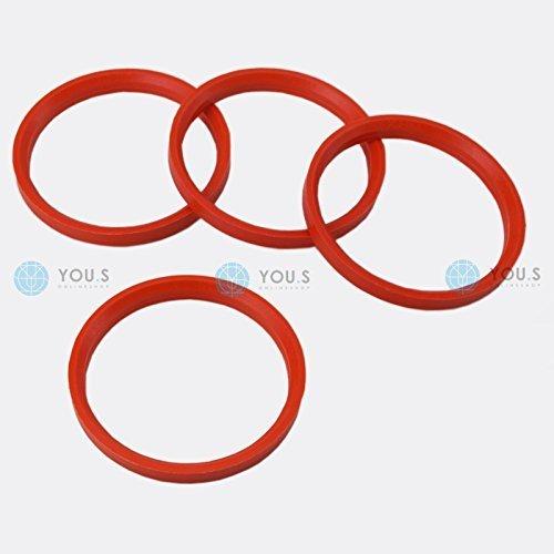 4 X ANELLI DI CENTRAGGIO anelli distanziatori per CERCHI IN LEGA 76,0 - 66,6 mm MAK TSW You.S