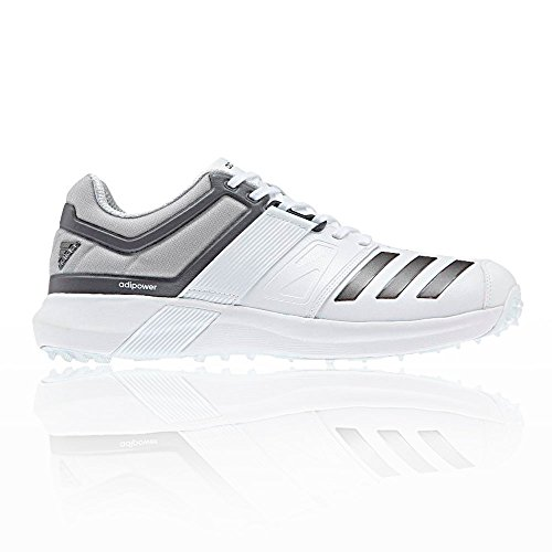 Scarpe Da Cricket Adidas Mens Adipower Vector, Bianche, 11