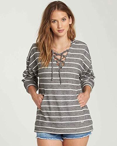 (Billabong Women's Weekend Lover Hooded Sweatshirt, Charcoal, M)