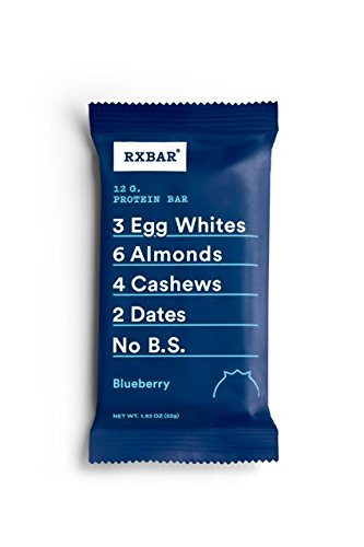RXBAR Whole Food Protein Bar, Blueberry, 1.83oz Bars, 12 Count