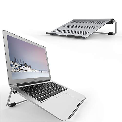 17' Sand Screen - Lamicall Laptop Stand, Adjustable Notebook Stand : Ventilated Laptop Riser Holder Compatible with Laptops Such as MacBook Air Pro, Dell XPS, Microsoft, HP, Lenovo More Laptops up to 17 inch- Gray