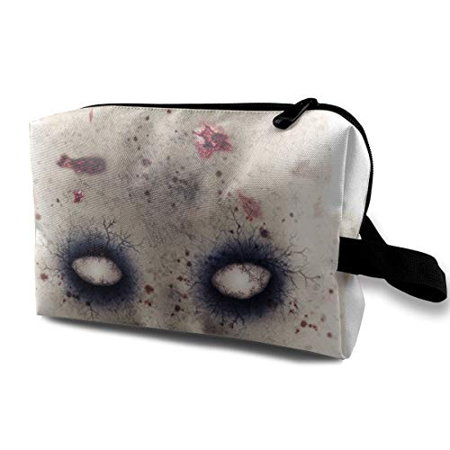 Halloween Scary Ghost Horror Evil Crawling Doll Multi-function Travel Makeup Toiletry Coin Bag Case ()