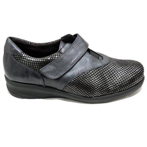 Velcro Y Cutillas Con Un 54346 Clásicos De Doctor Gris Zapatos Especial Ancho Licra P4q0z