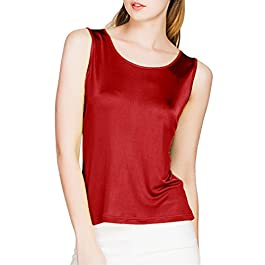 Paradise Silk 100% Silk Knit Women's Sleeveless Tank Top