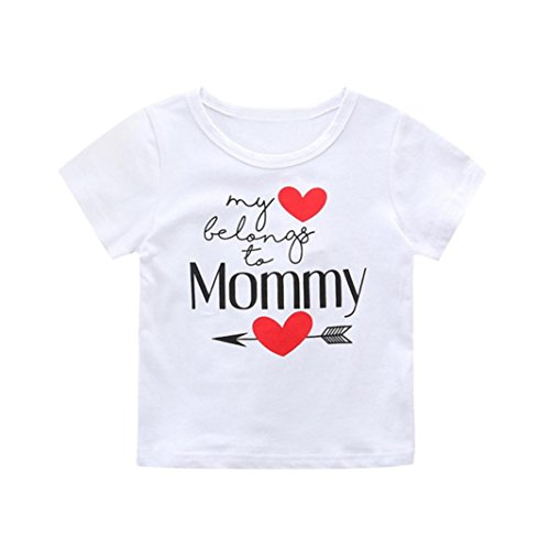 FEITONG Newborn Infant Baby Mother's Day Boys Girls Letter Print Romper Jumpsuit/T Shirt Tops Outfits