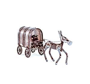 Sugarpost Gnome Be Gone Small Chuck Wagon Welded Scrap Metal Art Sculpture Item #1087