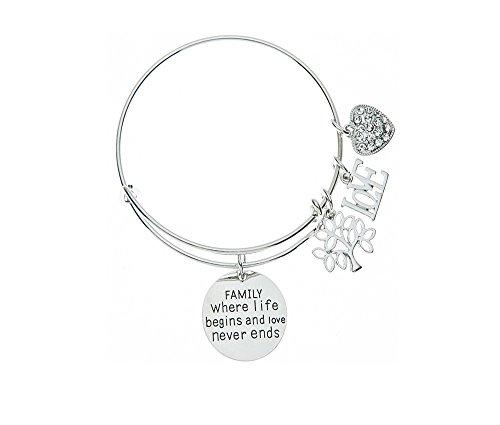Family Tree Bracelet, Family Where Life Begins And Love Never Ends