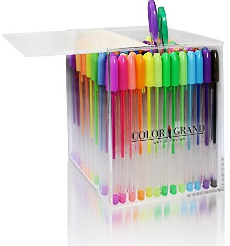 Amazon.com: Gel Pens Set for Adult Coloring Books - 100 Glitter ...