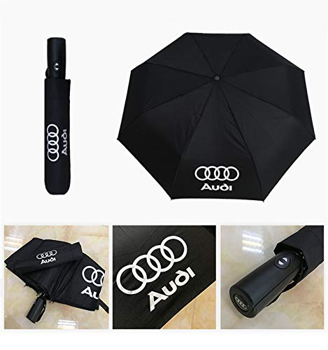 Auto Sport AUTO Open Large Folding Umbrella Windproof Sunshade with Car Logo Fit Aud Accessories